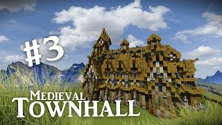 Minecraft: Big Medieval Town Hall Tutorial Part #3 Frames by EB Productions