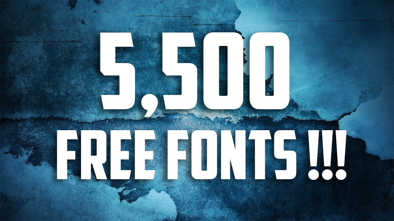 Download Largest Font Pack EVER !!!! 5,500 FONTS FREE DOWNLOAD ...