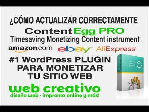 ▸Cómo actualizar CONTENT EGG PRO - El Plugin #1 para WordPress y ...