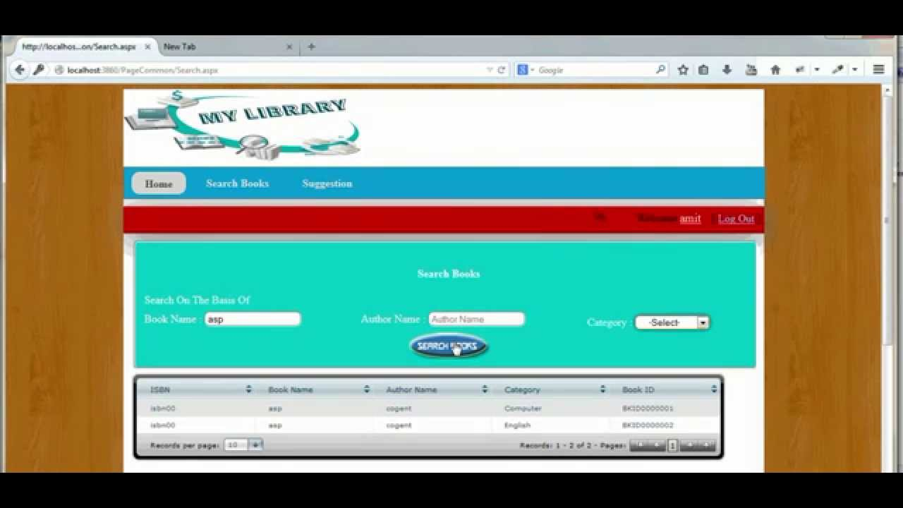 Library Management System In Asp Net Youtube