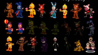 all fnaf world animatronics sing fnaf song