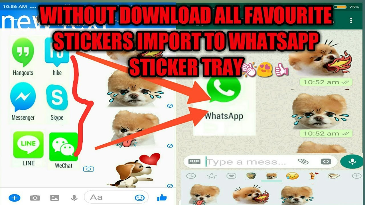 🔥Whatsapp Stickers - Add All Facebook Or Hike Stickers In Whatsapp Sticker  Tray🔥
