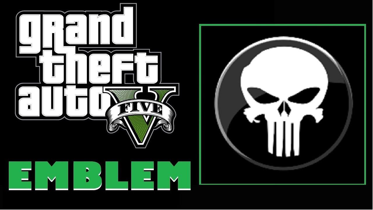 Grand Theft Auto 5 / GTA 5 Punisher Logo Emblem Tutorial ... Grand Theft Auto V Logo