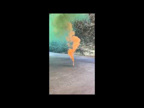 Green to Orange Smoke Fountains by Sparkle Rock Pop