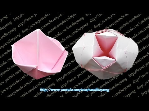 how to make a candy dish origami