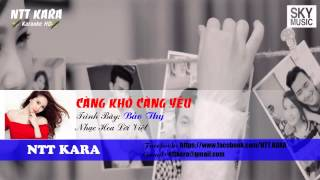 [Karaoke] Càng Khó Càng Yêu - Bảo Thy (full beat)