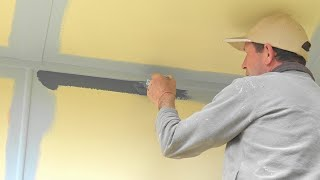 The SECRETS on How to cut in a perfect straight paint line, cutting in a ceiling, trim or wall.