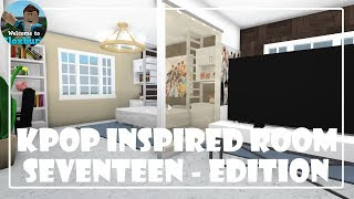 Roblox| KPOP INSPIRED ROOM - SEVENTEEN EDITION TOUR | Bloxburg