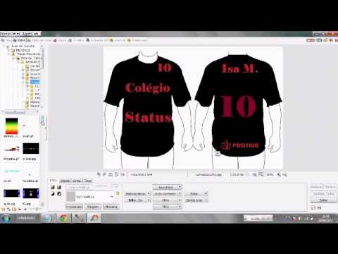 fdf95c429 Criando Camiseta Personalizada - YouTube