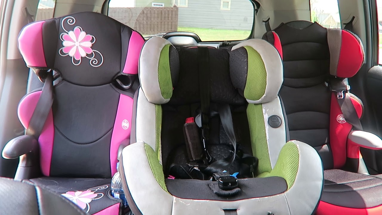 2011 Toyota Highlander 2nd Row Seat Fitting 3 Car Seats 2