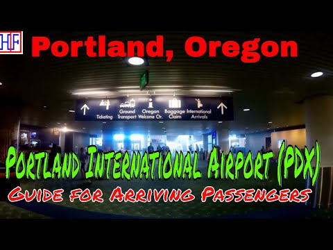 Portland International Airport (PDX) – Arrivals, Ground Transport & Max (train) Info | Episode# 1