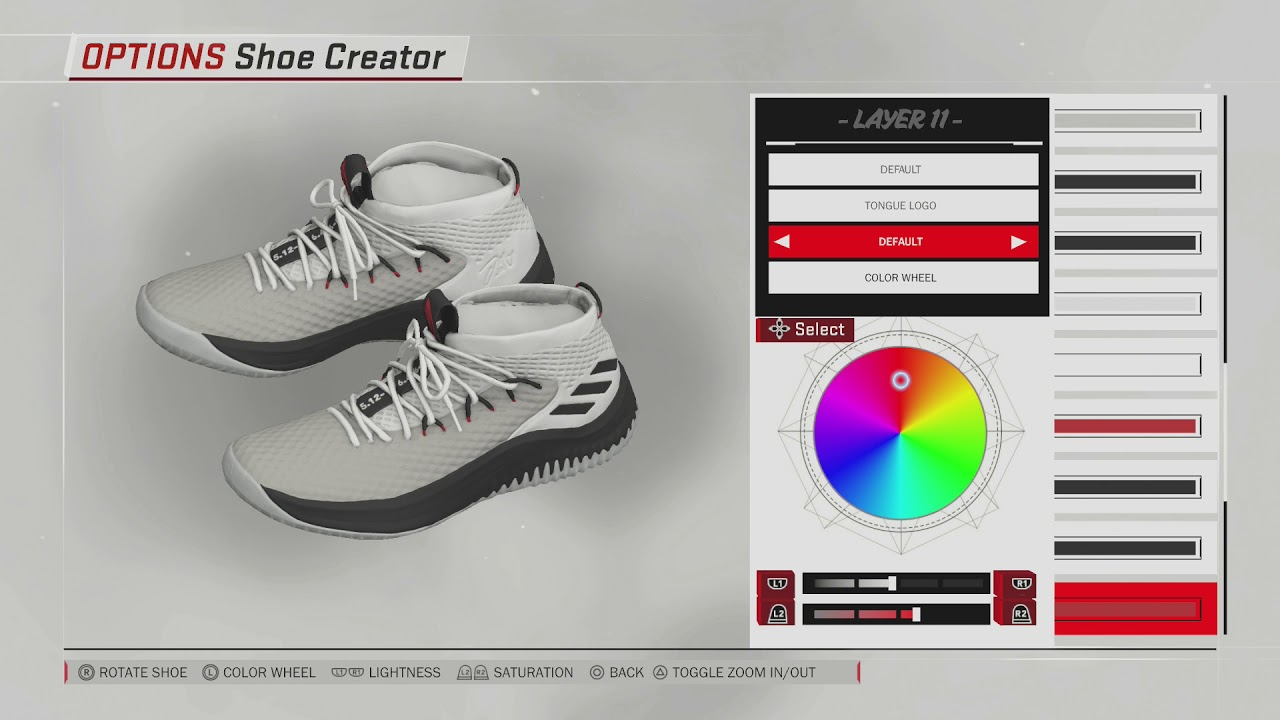 NBA 2K18 Shoe Creator | Dame 4 Rip City
