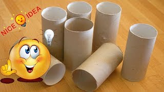 DIY Toilet Paper Roll Crafts - Craft Ideas Using Empty Toilet Paper Rolls - Wall Decor
