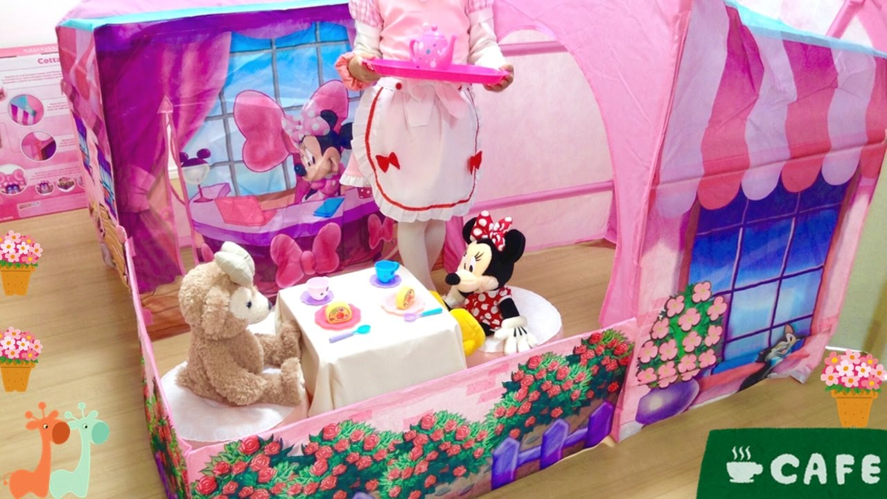 Play Tent Minnie Mouse Cafe  Play House  Minnie Mouse Cottage & ?????? ?????? ??? ????? / Play Tent Minnie ...