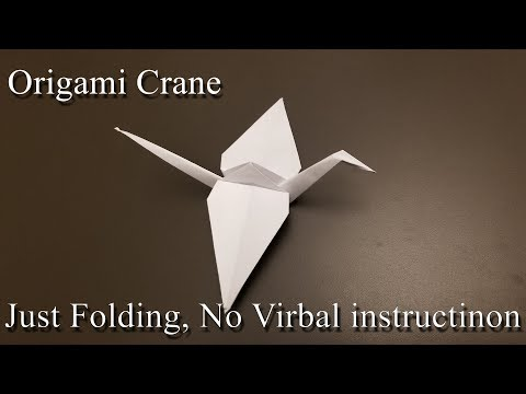 Origami Crane - How to Make the Paper Crane - Only Folding