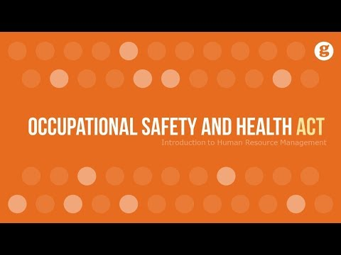 Occupational Safety And Health Act