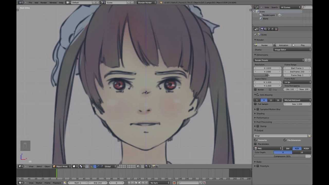 Blender Character Modeling Part 1 : Part blender anime character modeling tutorial