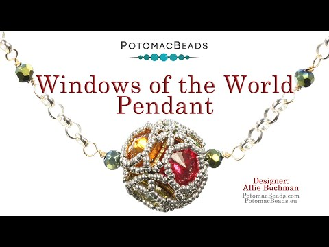 Windows of the World  - Pendant, Beaded Bead, Necklace, Earrings, Bracelet Tutorial