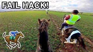 FAIL HACK! (inc. bolting & gallop)   Helmet Cam
