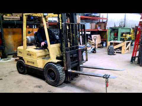 1999 Hyster H50 XM Forklift YouTube