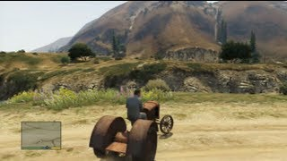 GTA 5 : Tuto&Astuce Véhicule Secret ! Pure Folie Dans  le vieux Tracteur !!