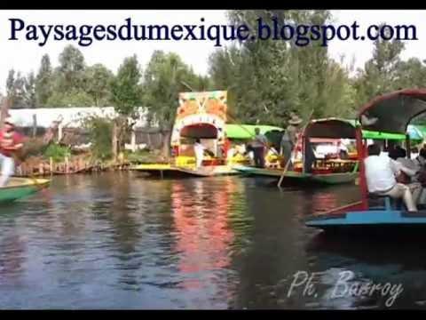 Paysages du Mexique mariachis Xochimilco 2eme partie