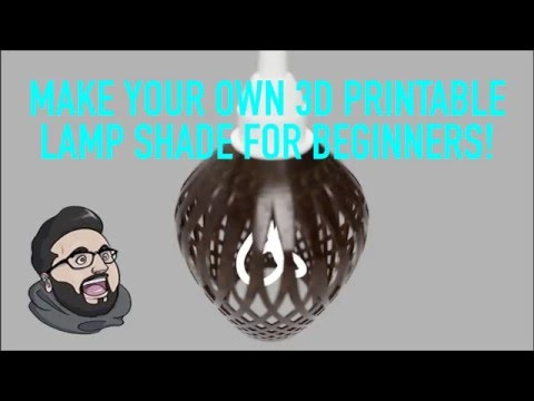 3D print your own Lampshade, Introduction to Fusion360
