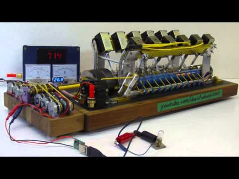 Solenoid Engine Generator Set Powers Various Devices