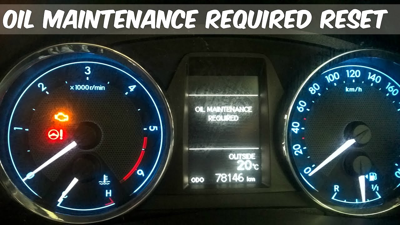Service Warning Light Reset How To Toyota Corolla 2015 Youtube
