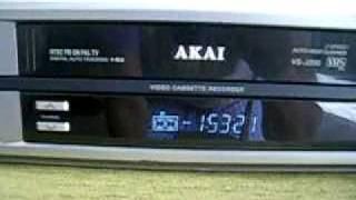 Akai VHS Video Casette Recorder working 8-9-2010