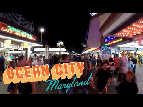 Ocean City Maryland Boardwalk (Day And Night)