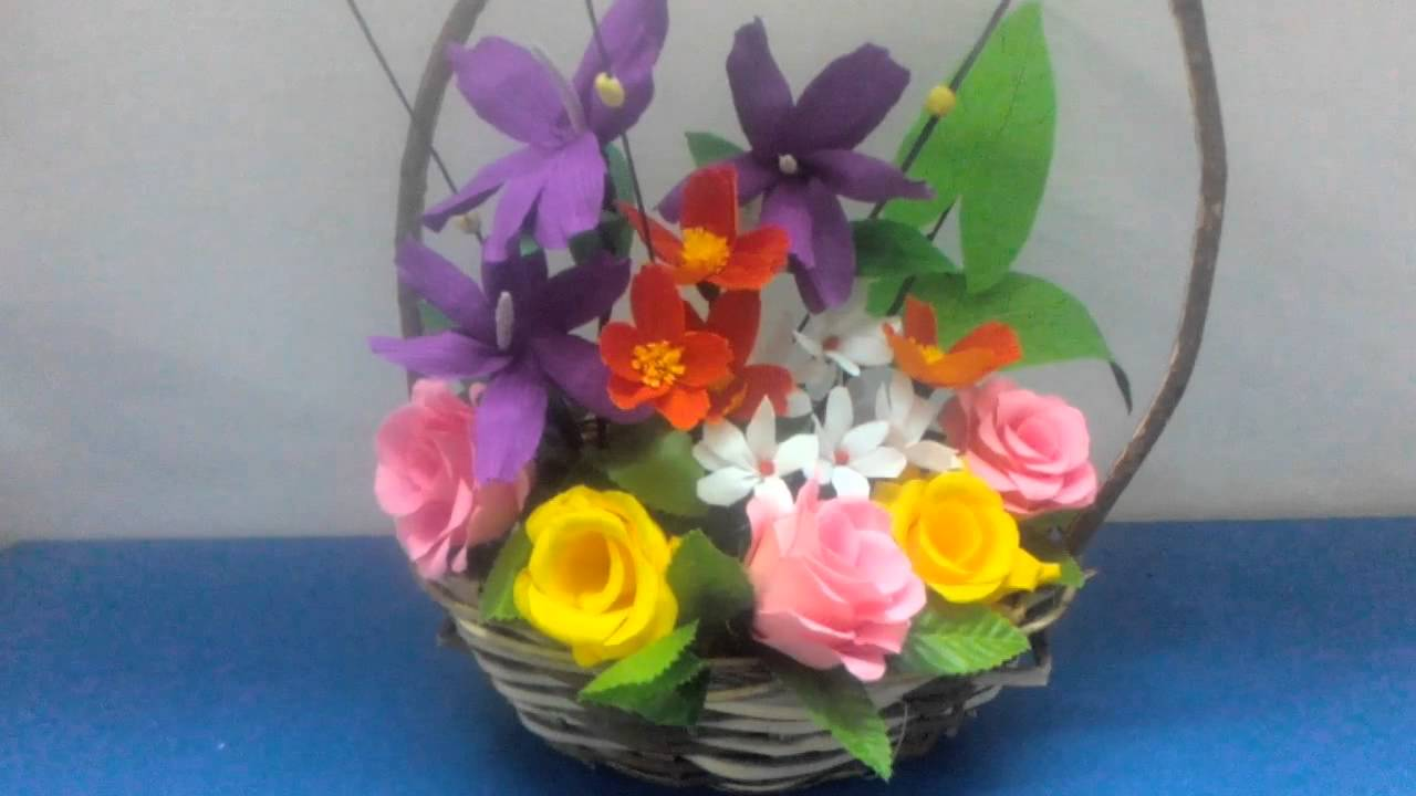 paper flower basket & paper flower basket - Physic.minimalistics.co