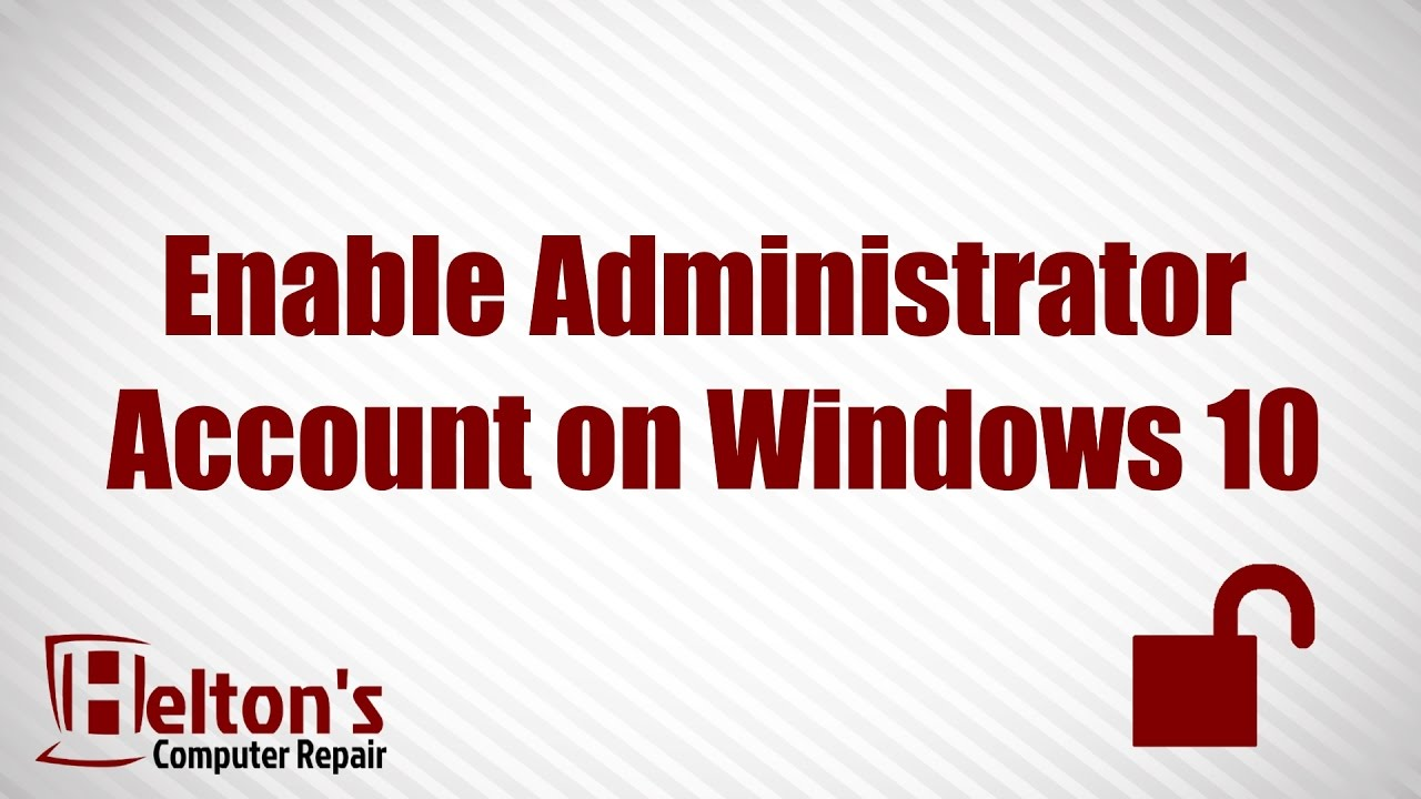 Administrator account enable or disable in windows 10 youtube administrator account enable or disable in windows 10 ccuart Choice Image