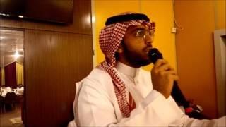 الشاعر طارق عبدالعزيز الرويشد -منسوبي متوسطة عكاظ يكرمون قائدهم سلطان السناني