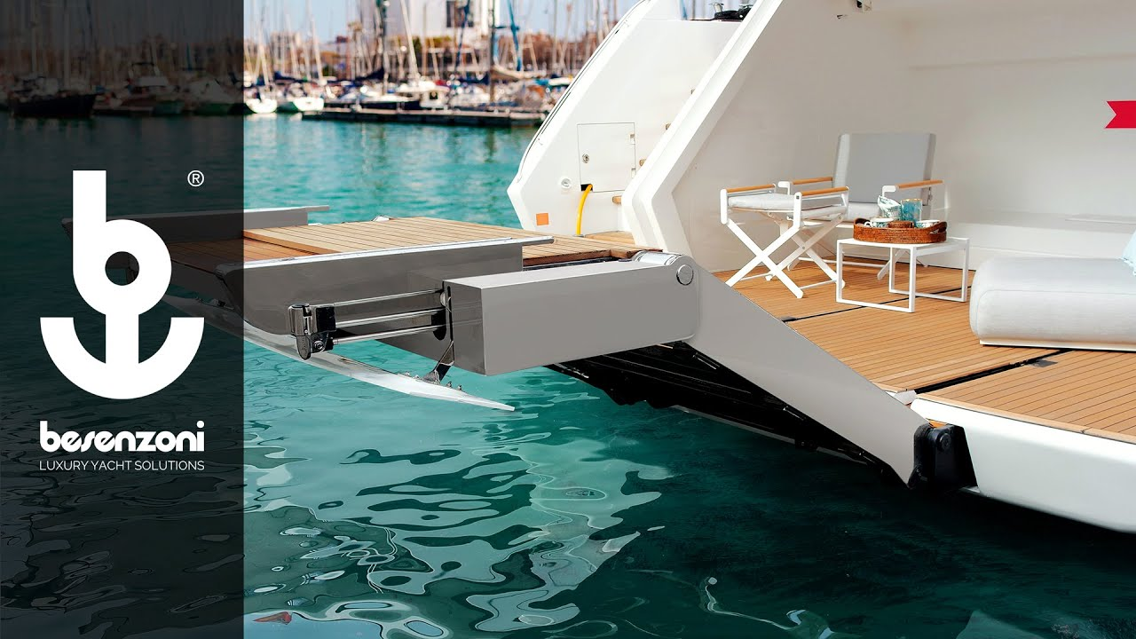 Multifunction ladder gangway SP 603 for yacht superyacht - Scala passerella - Besenzoni