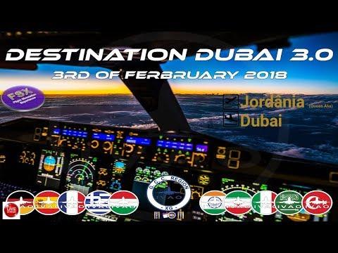 [FSX] [IVAO Evento] Emirates Boeing 777 | Jordania (Queen Alia) ✈ Emirados Arabes (Dubai)