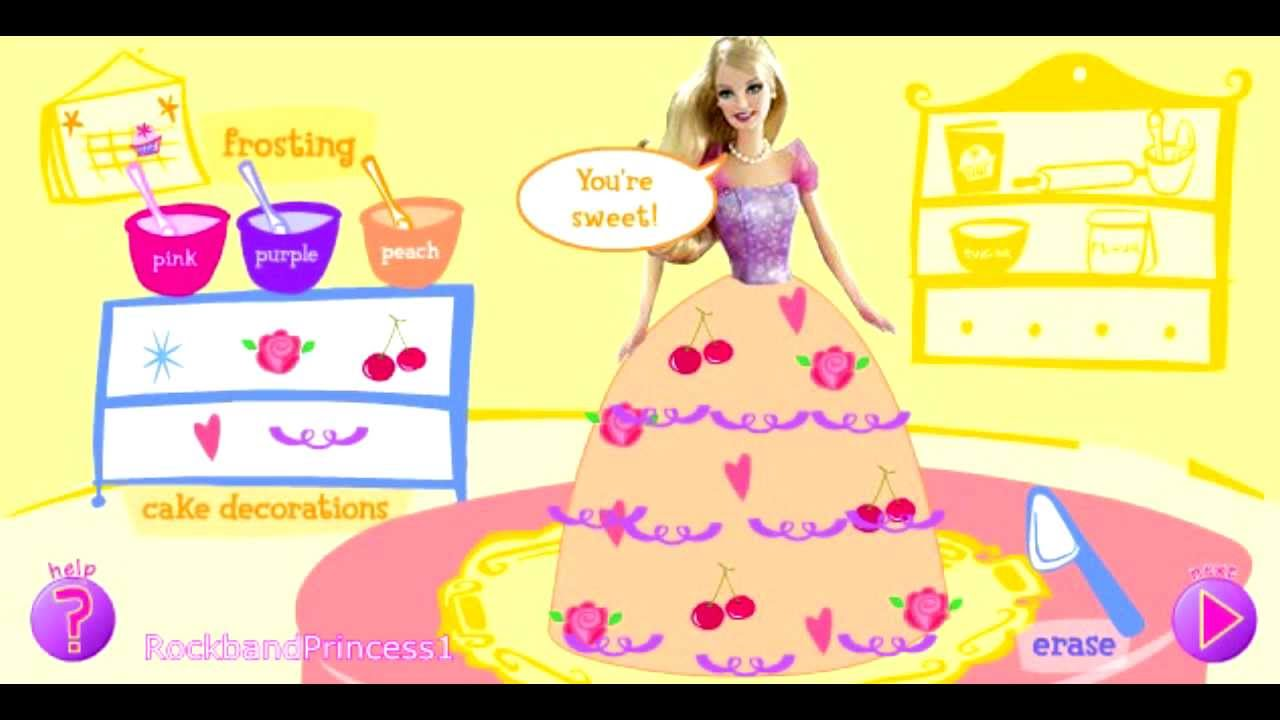 Barbie Cake Dress Up Game Cooking Games Youtube