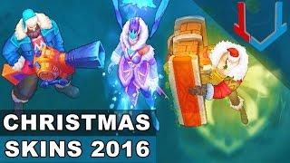 All Christmas Skins 2016: Santa Braum, Snow Day Graves, Winter Wonder Karma (League of Legends)