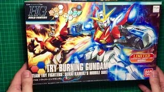 Repeat youtube video NEW Try Burning Gundam unboxing...