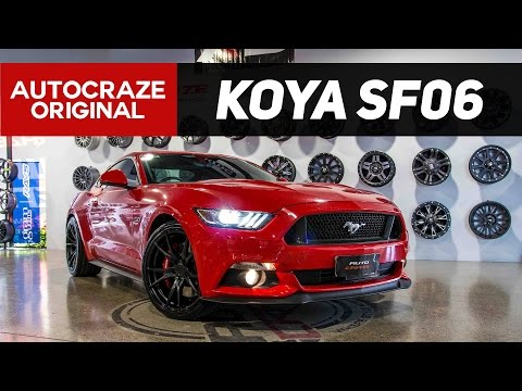 RED INFERNO // Koya SF06 Wheels | Ford Mustang Rims | AutoCraze 2017