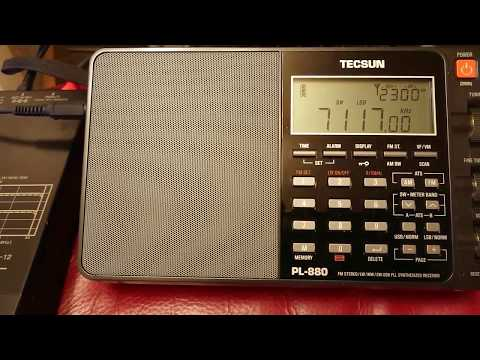 7117kHz Amateur Radio Contest / PL-880&AN-12 NRD-545&ALA-1530S+