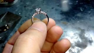Кольцо из белого золота на помолвку.(, 2016-12-18T13:14:07.000Z)