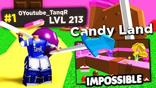 STRONGEST PLAYER PLAYS IMPOSSIBLE CANDY LAND *NEW CODES* Treasure Quest (Roblox)