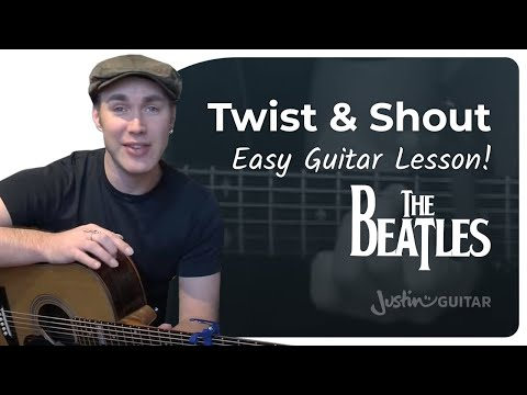 Twist And Shout - The Beatles Beginner Easy Song Guitar Lesson (BS-207) How to play