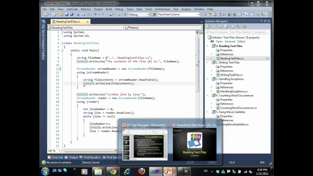 Introduction to Programming with C# / Java Books » Streams