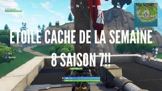 ETOILE CACHE DE LA SEMAINE 8 SAISON 6[ PALIER SECRET FORTNITE BATTLE ROYAL] [ BANNIÈRE]