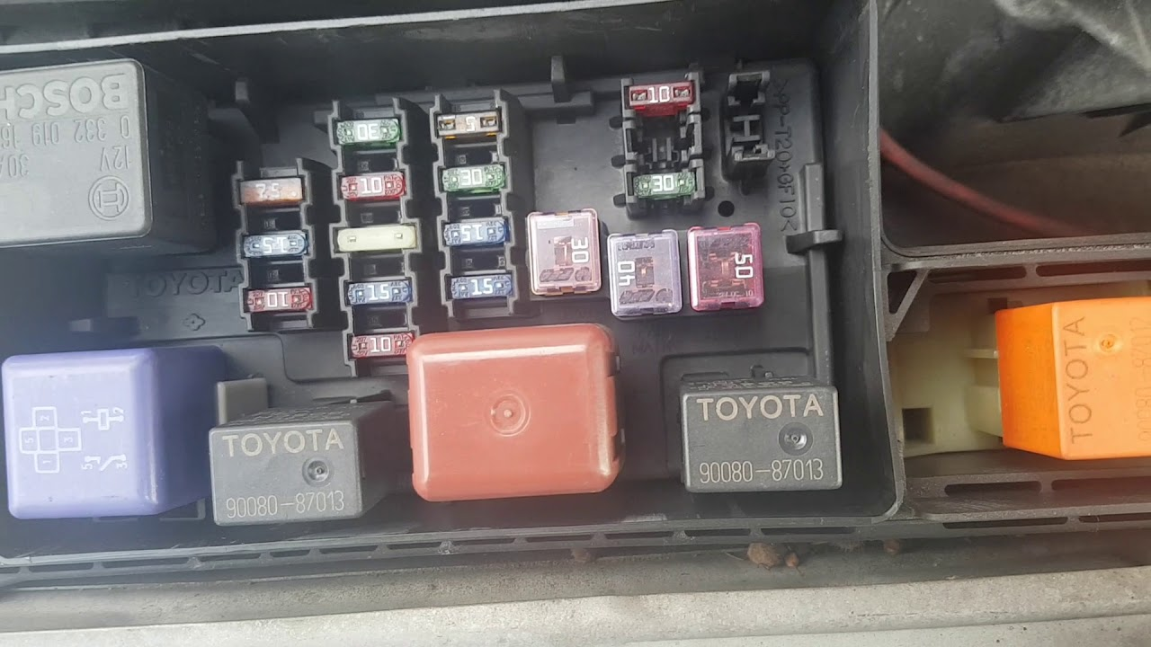 toyota avensis 2000 reg 2 0 diesel fuse box [ 1280 x 720 Pixel ]