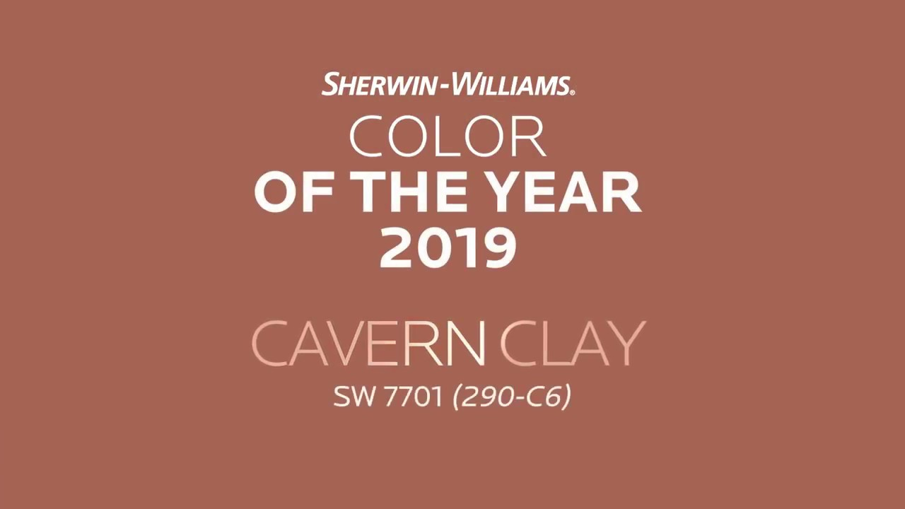 color of the year 2019 cavern clay sherwin williams youtube. Black Bedroom Furniture Sets. Home Design Ideas