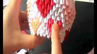 3d Origami Timelapse: Valentines Swan