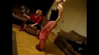 Repeat youtube video Drunk girls trying to pull each others pants down